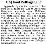 Zeitungsbericht aus 1974